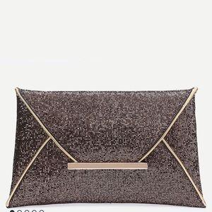 Handbags - Coming soon✨ glitter contrast trim envelop clutch